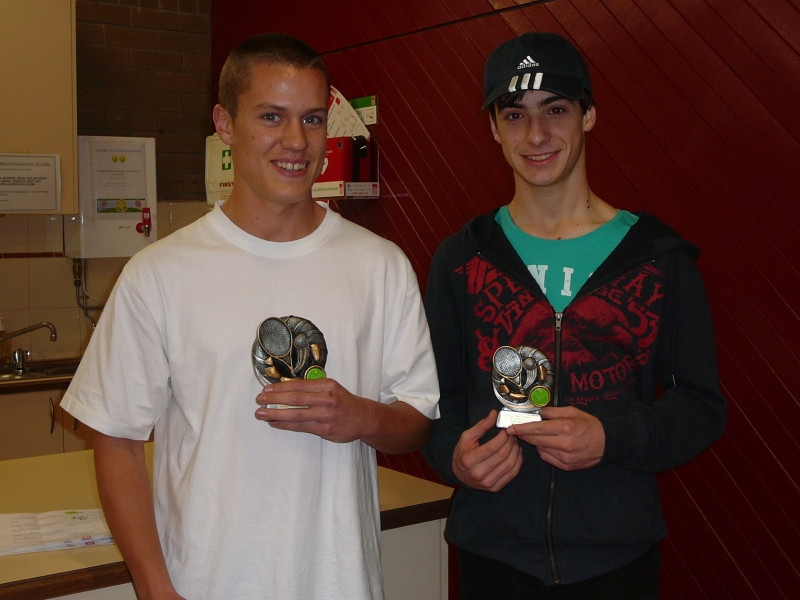 Boys Singles Winner and Runner up 2014