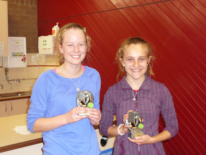 Girls Singles Winner and runners up 2014