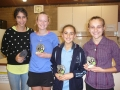 Girls Doubles Winners and Runners up 2014